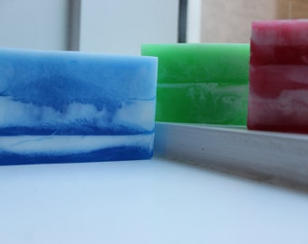 Men's Soap/Guy's Soap/Elements Soap/Fire, Water & Earth/Marble Soap/Set of 3/Gift for Him/Bergamot, Patchouli, Cedarwood