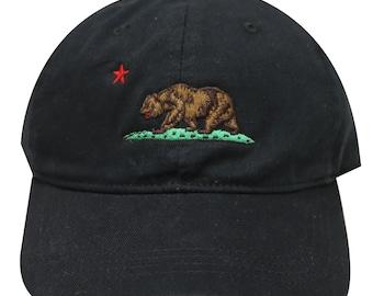 Capsule Design California Dad Hat in Black
