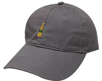 Capsule Design Champagne Cotton Baseball Cap Dark Grey