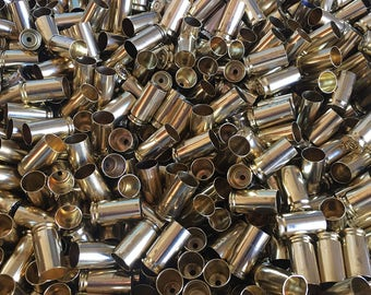 9mm Reloading Brass, Polished or Raw, Recycled Once Fired Brass