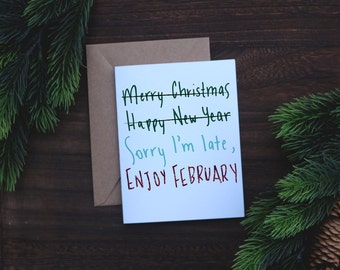 Belated christmas card christmas card 2018 belated christmas card m4hsunfo