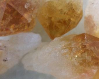 Loose Citrine Gemstones, Citrine beads, 22 mm Nugget beads, Yellow Gemstones, Wholesale #0817