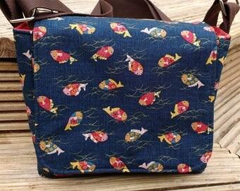Messenger bag - medium, crossbody bag, shoulder bag, one of a kind