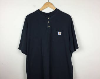 Vintage CARHARTT T Shirt Size Large, Black Carhartt  Tee
