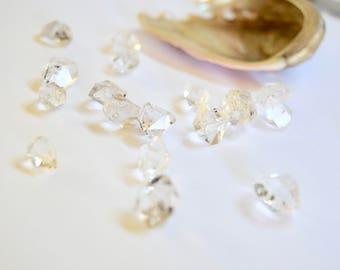 Herkimer Diamonds Quartz Diamonds Crystals Raw Quartz Raw Crystals Herkimer Diamond Jewelry Jewelry Supplies Gems Supplies Clear Crystals