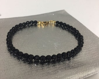 Beaded Bracelet with Onyx and goldfilled