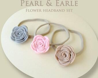 Flower Headband, Felt Flower Headband, Floral Headband, Felt Flowers, Felt Bow Headband, Felt Flower Crown, felt flower baby headband