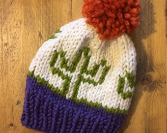 The 'Snektus' Bobble Hat - Snowy