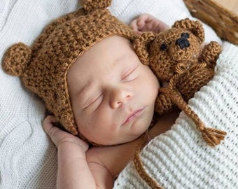 Baby Bear ear flap hat