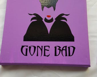 Good Girl Gone Bad Maleficent canvas