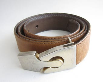 Pierre Cardin vintage leather belt. 1960's rare.