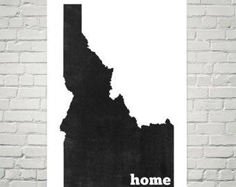 Idaho Home, Idahome, Map of Idaho, Idaho Print, Idaho Map, Idaho Sign, Idaho Art, Idaho Wall Art, Idaho Poster, Gift, Idaho State, Decor