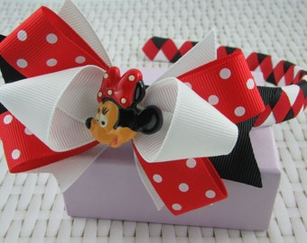 Woven Headband Inc Boutique Bow - Minnie Mouse