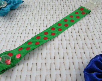 Dummy Clip / Pacifier Strap - Christmas Patterns
