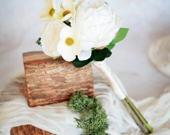 Mini White Peony Bouquet