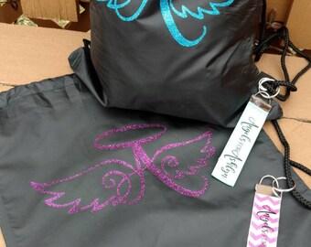 AngelsForAshlyn large drawstring bag