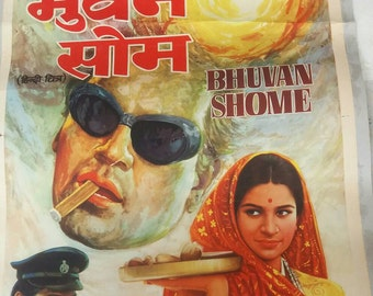 1969 bollywood movie poster Free shipping.