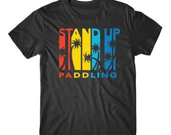 Vintage Retro 1970's Style Stand Up Paddling T-Shirt