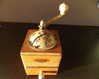Vintage French Cyrus Coffee grinder