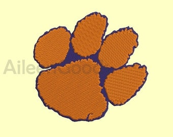 Clemson Tigers   Embroidery  design 7 Size  INSTANT download machine embroidery