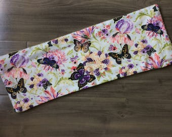 Butterfly & Floral Burp Cloth  l Baby Accessory , Baby Shower, Gift Idea, New Mom