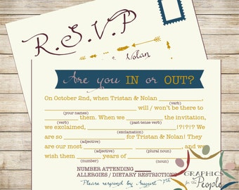 Wedding RSVP - Funny, unique Mad Lib style wedding RSVP