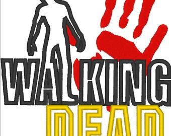 Walking Dead Applique Embroidery Design DIGITAL FILE
