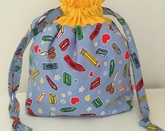 Knitting bags / knitting project bag / crochet bag  - pencil case