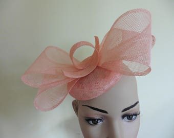 Coral Hat,Coral Fascinator,Coral wedding hat,Coral Ascot Hat, Coral Fascinator,Ascot Hat,Wedding Hat,Fascinator,Occasion Hat,Race Hat
