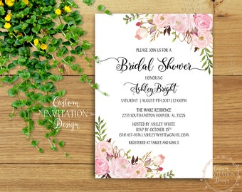 Bridal shower invitation rustic, Bridal shower invitation, bridal shower invites, bridal shower invitation template - US_BI0303b