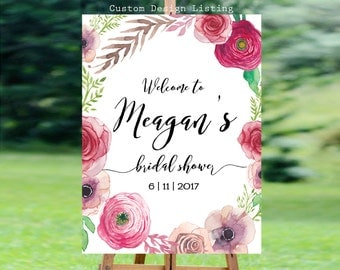 Bridal Shower sign, Bridal Shower Welcome Sign, Bridal Shower decoration, PRINTABLE Welcome sign, Bridal shower welcome sign - US_BS1101