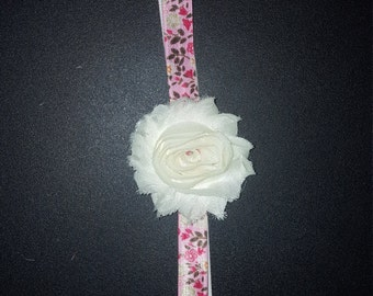 White Flower Hedband