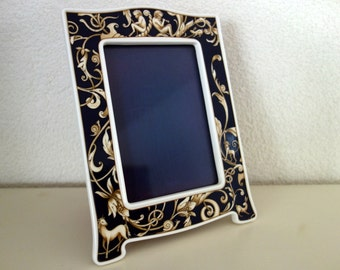 Wedgwood Bone China cobalt blue Cornucopia photo frame