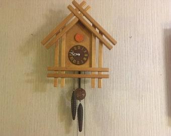 Vintage Cuckoo Clock Soviet Period 70s Working CLOCK