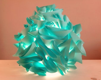 Lamp table/night light in mint color paper
