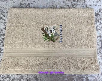 Hand Towel – Koala – Australia – Beige