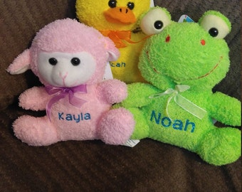 Easter Stuffies Personalized