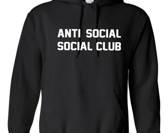 Anti Social Club Hoodie Inspired Kanye West Sweatshirts Unisex Hooded Sweatshirt