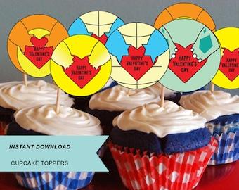 Pokemon, Pokemon cupcake toppers, Kids Valentine, treat bag, toppers, treat bag,  Valentine's treat,  treat label, Pikachu