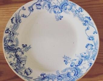 Six pretty, vintage Samuel Radford side plates