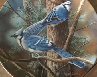 "Knowles Collector Plate ""The Blue Jay""."