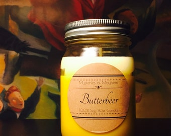 Butterbeer Soy Wax Candle - Harry Potter - Butterscotch and Rum scented