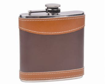 Custom Engraved Leather Flasks, Groomsmen Gifts