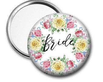 Yellow Rose Bride 58 mm 2.5 inch Pocket Mirror