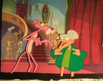 Pink Panther w Granny -  Original Production Cel