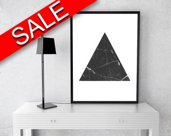 Triangle Framed Print Available Marble Canvas Print Available Triangle Geometric Art Marble Geometric Print Triangle Printed Marble