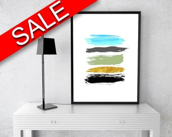 Wall Art Brush Digital Print Abstract Poster Art Brush Wall Art Print Abstract Living Room Art Abstract Living Room Print Brush Wall Decor