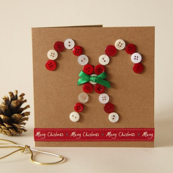 Christmas Candy Button Card