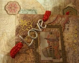 LOVE Bracelet, Macrame Bracelet, Knotted Bracelet, Elegant Wrap