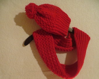 child hat and scarf, crochet scarf and hat,